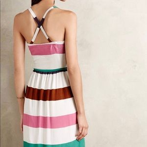 Corey Lynn Calter Smocked Striped Dress